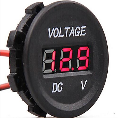 DC 12V-24V автомобиль цифровой привело напряжение электрической вольт тестер индикатор метр монитор радиоуправляемый напряжение lipo батареи метр тестер индикатор 2 6 клеток светодиодные панели вольтметр