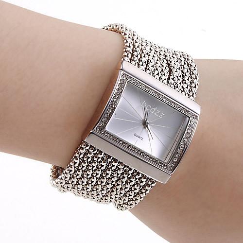 Женские Модные часы Часы-браслет Японский кварц Кварцевый сплав Группа Блестящие Элегантные часы Люкс Серебристый металл