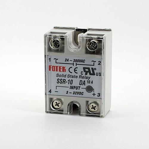 fotek твердотельное реле однофазного SSR-10da DC-AC 3-32v / 24-380v 10а ssr 90da solid state relay white dc 3 32v