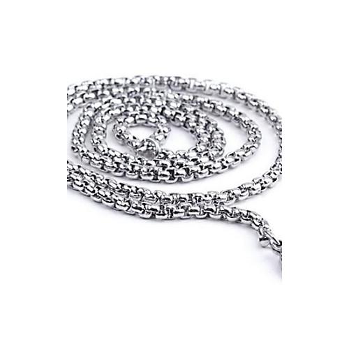 Муж. Ожерелья-цепочки / Цепи / Цепочка - Нержавеющая сталь На каждый день, Простой стиль, Мода Серебряный Ожерелье Назначение Подарок цепочки ювелирная бижутерия honey jewelry цепочка