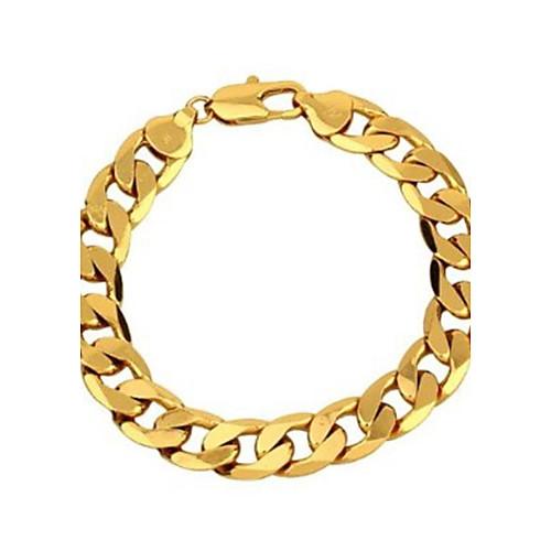 Муж. Золотистый Позолота Браслеты-цепочки и звенья - Классика Бижутерия Золотой Браслеты Назначение Для вечеринок Повседневные