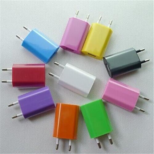 Зарядное устройство для дома Портативное зарядное устройство Телефон USB-зарядное устройство Евро стандарт 1 USB порт 1A AC 100V-240V Для cabos usb cавтомобильное зарядное устройство с зажигалкой