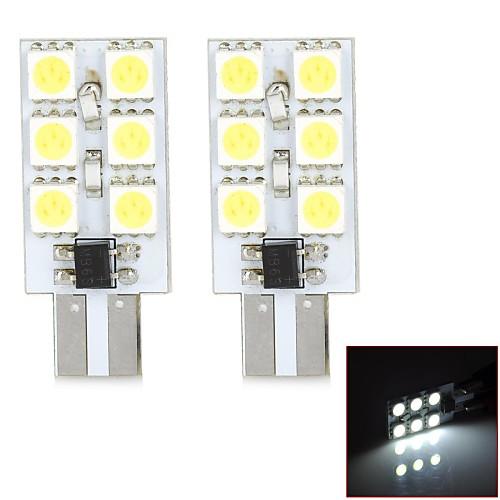 T10 1.5W 120lm 6000-6500K 6-3528SMD светодиодных автомобилей Дверь лампы - (2шт)