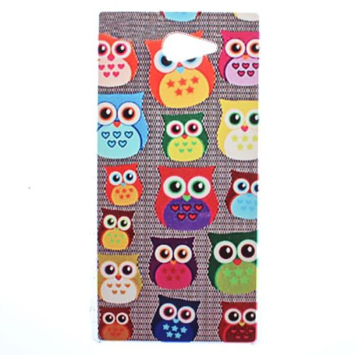 Cute Owl Transparent Pattern PC Hard Case for Sony Xperia M2 S50h