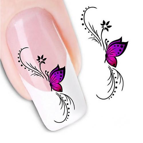 1 pcs 3D наклейки на ногти Наклейка для переноса воды маникюр Маникюр педикюр Цветы / Свадьба / Мода Повседневные / 3D-стикеры для ногтей