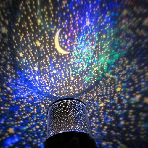 Красочный светодиодный ночник с дизайном звездного неба (3xAA батареи)
