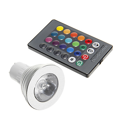 3 Вт. 250-300 lm GU10 Точечное LED освещение 1 светодиоды Декоративная RGB AC 85-265V