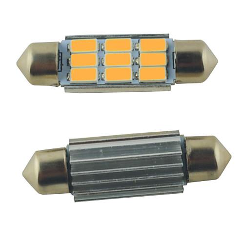 SO.K 2pcs 39mm Автомобиль Лампы 2W SMD 5630 9 Внутреннее освещение цена