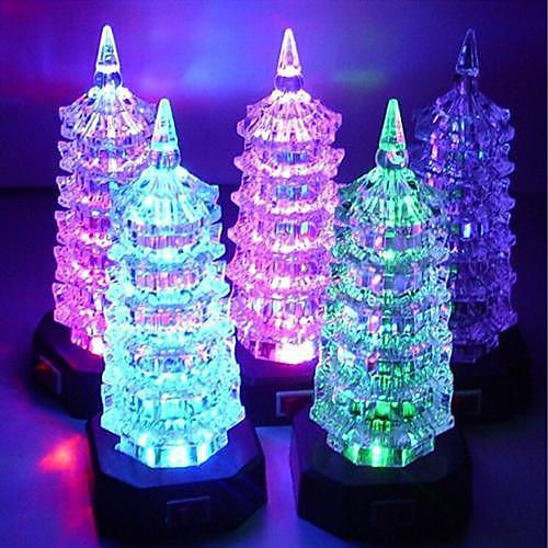 Светильник ночной светодиодный акриловый в форме ёлки