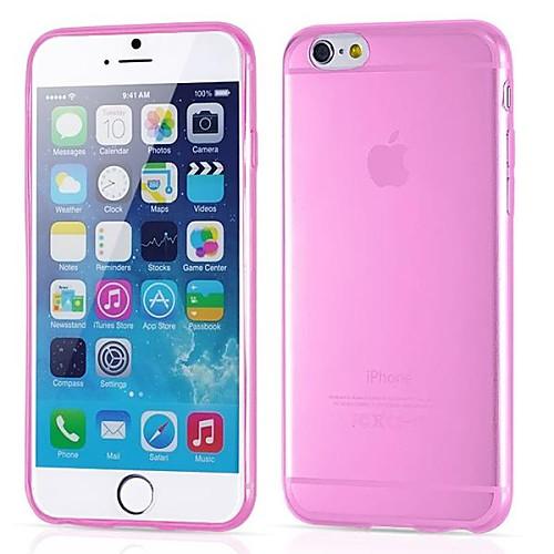 Кейс для Назначение Apple iPhone 6 iPhone 6 Plus Ультратонкий Прозрачный Кейс на заднюю панель Сплошной цвет Мягкий Силикон для iPhone 6s