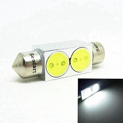 41мм 2W 2xcob привело белый 140-160lm чтение лицензионного лампа лампы (dc12v)