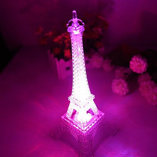 Coway романтический монохроматический свет красочный Эйфелева башня привело ночник (Random Color)
