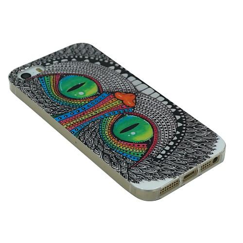 Мягкая задняя крышка чехол для IPhone 5 / 5S, с принтом Улыбки Кота от MiniInTheBox INT