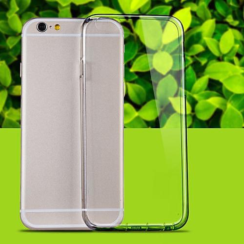 Кейс для Назначение Apple iPhone 6 iPhone 6 Plus Прозрачный Кейс на заднюю панель Сплошной цвет Мягкий ТПУ для iPhone 6s Plus iPhone 6s