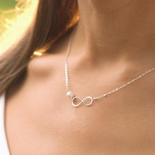 Жемчужные ожерелья - Жемчуг Серебряный Ожерелье Назначение Свадьба, Для вечеринок, Подарок бижутерия в подарок