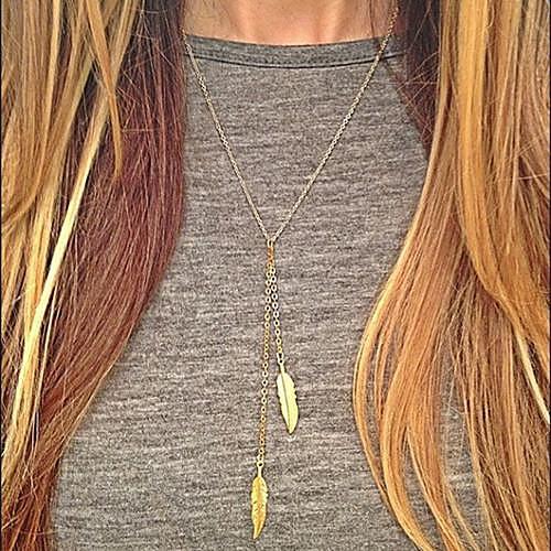 Жен. Ожерелья с подвесками - европейский, Мода Серебряный, Золотой Ожерелье 1шт Назначение Повседневные жен ожерелья с подвесками уникальный дизайн в виде подвески тег серебряный золотой ожерелье назначение повседневные