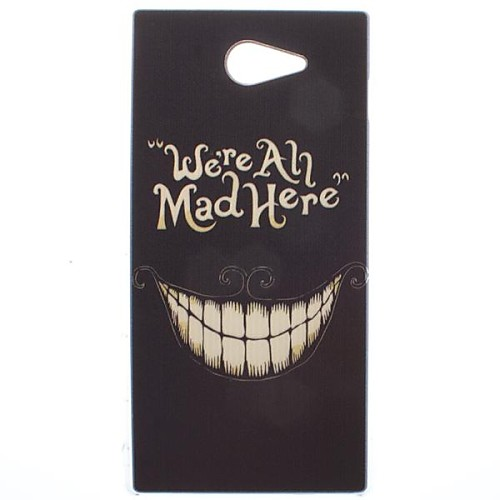 Crazy Teeth Transparent Pattern PC Hard Case for Sony Xperia M2 S50h