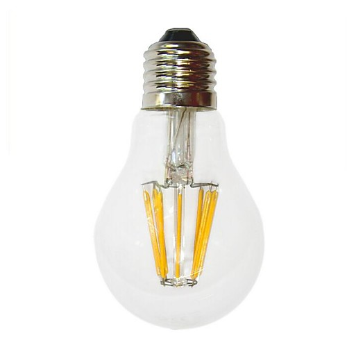 6W E26/E27 LED лампы накаливания G60 6 COB 700 lm Тёплый белый Декоративная AC 220-240 V <br>