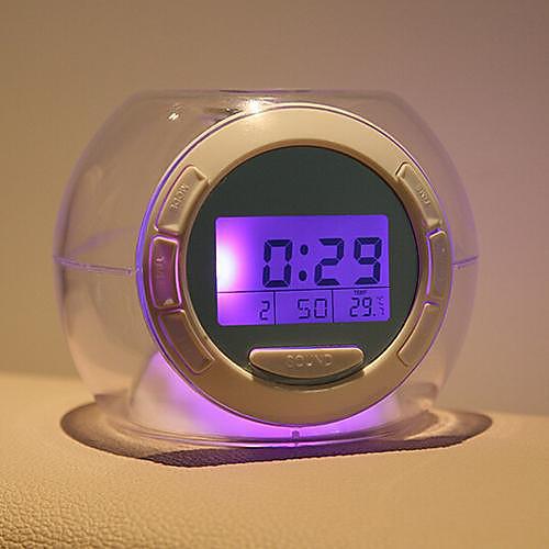 Coway красочный прозрачный сферический естественный звук привело будильник ночник