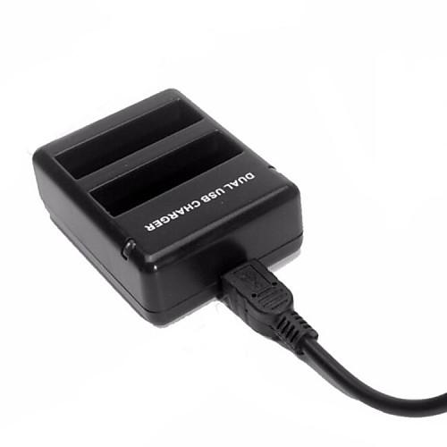 Новый USB двухпортовый зарядное устройство для GoPro героя 4 GoPro 4 батареи ahdbt-401