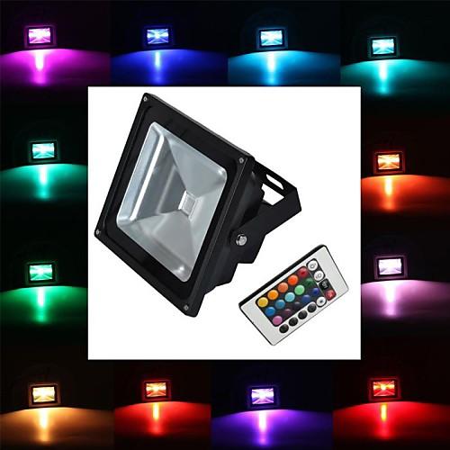 4800 lm LED прожекторы 1 светодиоды Высокомощный LED На пульте управления RGB AC 85-265V