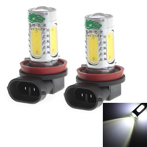 h11 20w 1900lm 6000-6500k белый свет лампы для автомобилей Противотуманные фары (12-24В, 2 штуки)