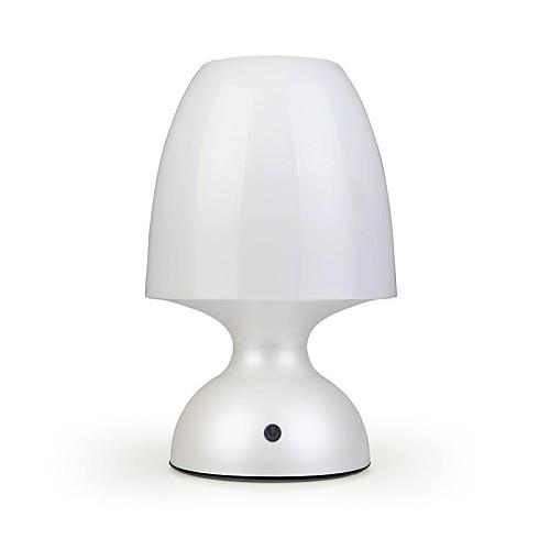 с регулируемой яркостью 1,2 Вт 100lm 5000k 1-главе белый USB сенсорная ночь ночники - белый (4,5 ~ 5В / 3 х АА)