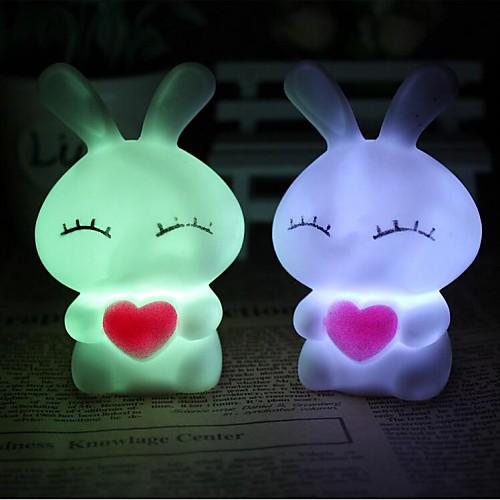 Coway любовь миль кроликов разноцветных привело ночник лампа