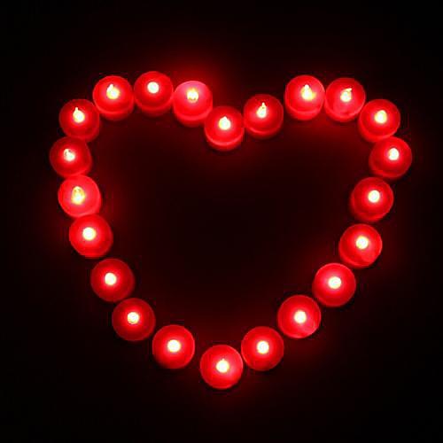 Coway 1шт привело красная свеча в форме света Партии питания свадебные украшения