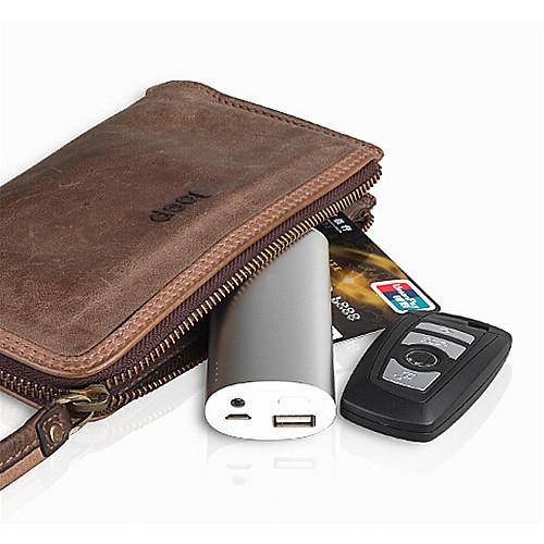 Алюминиевый, внешний аккумулятор для IPhone 6/5 / 5S Samsung S4 / 5 HTC LG, 6000mAh от MiniInTheBox.com INT