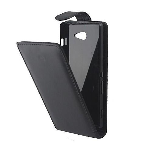 Кейс для Назначение Sony Xperia Z3 Compact Sony Xperia M2 Другое Sony Кейс для Sony Флип Чехол Сплошной цвет Твердый Кожа PU для Sony