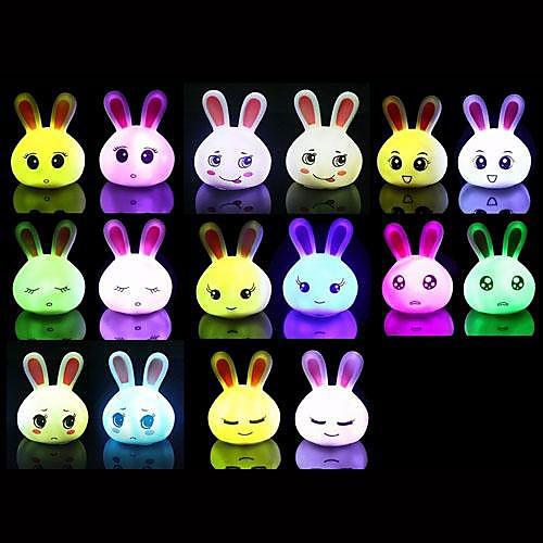 Coway творческое выражение кролика красочные главе ночника (разных цветов)