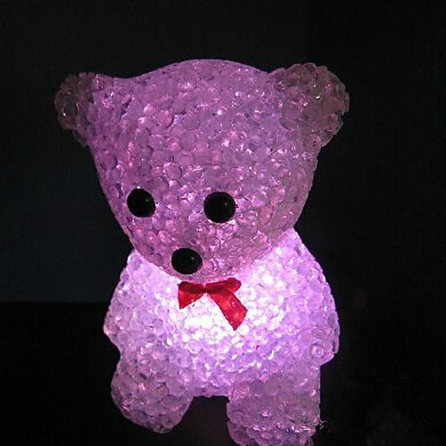 медведь ева кристалл цвет меняющейся ночник