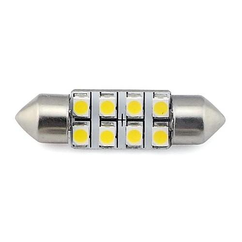 2PC 12V White 3SMD 36mm Festoon Number License Plate Light