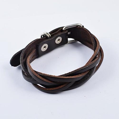Кожаные браслеты Кожа Бижутерия Повседневные Спорт Бижутерия Коричневый муж бижутерия кожаные браслеты кожа коричневый
