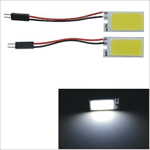 carking ™ T10 / BA9S / гирлянда 28mm ~ 40mm 3W 21-COB светодиодный белый интерьер автомобиля купол света (2шт)