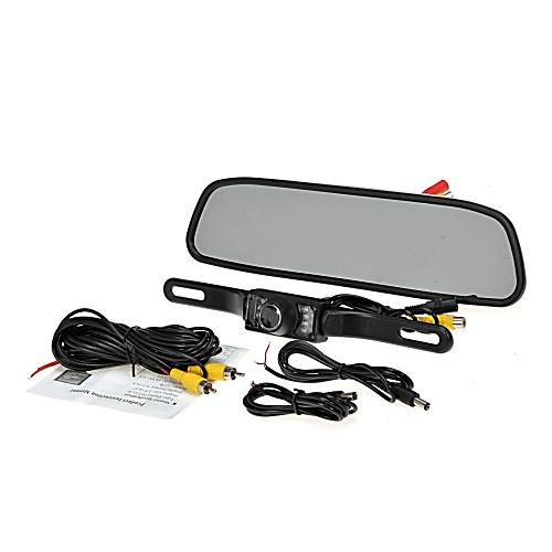 4.3 TFT монитор вид сзади автомобиля система жк резервного копирования обратная комплект камеры ночного видения кабель питания монитор компьютер 1 8м