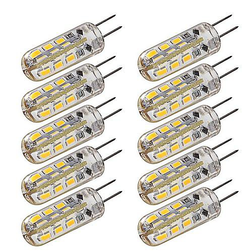 1.5W G4 LED лампы типа Корн T 24 SMD 3014 100-120 lm Тёплый белый / Холодный белый Регулируемая DC 12 V 10 шт.