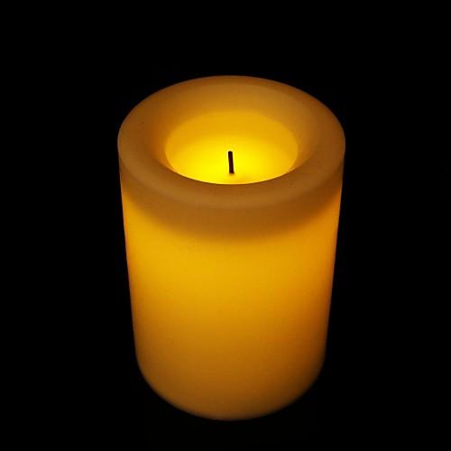 мерцание цилиндрический привело беспламенный украшение свеча с поверхности парафина - 10 см