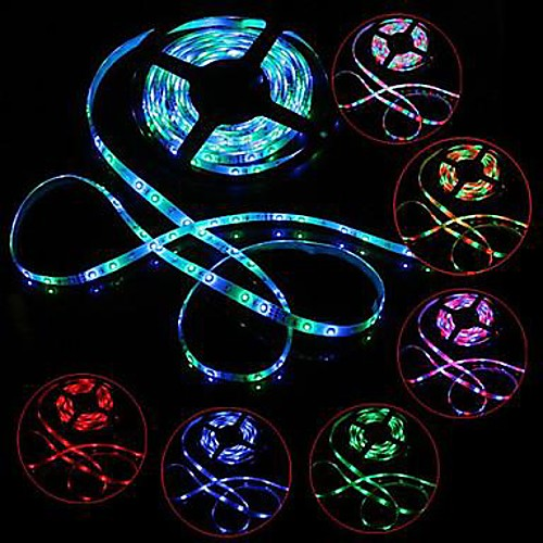 Светодиодный комплект для освещения огней 3528 5 м 300leds rgb 60leds / m 44key ir контроллер и 3a блок питания ac100-240v от MiniInTheBox.com INT