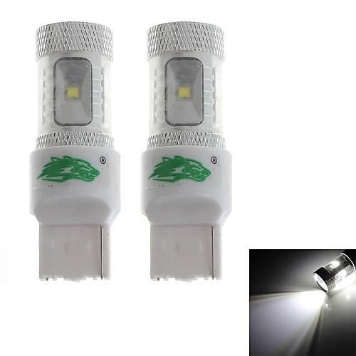 zweihnder t20 30w 2800lm 6000-6500K 6x3535 SMD LED белый свет лампы для автомобилей Foglight (12-24В, 2 шт)