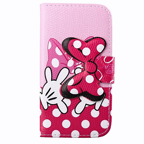 Pink Bowknot Pattern PU Full Body Case with Card Slot for Motorola MOTO X