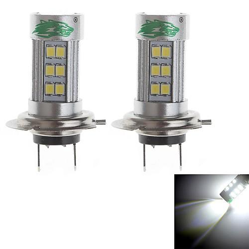 zweihnder h7 15w 1400lm 6000-6500K 27xsmd 2835 светодиодный Белый свет лампы для автомобилей противотуманные фары (12-24В, 2 шт)