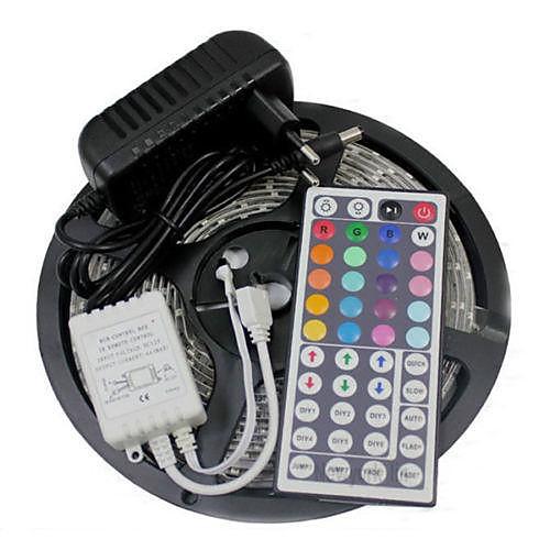 5м 300x3528 SMD RGB LED полосы света и 44key пульт дистанционного управления и 3а ЕС питания (AC110-240V) <br>