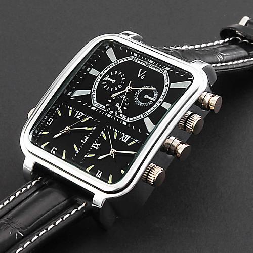 Персональный подарок Часы, С тремя часовыми поясами Аналоговый Кварцевый Японский кварц Часы With сплав Материал корпуса Кожа Группа