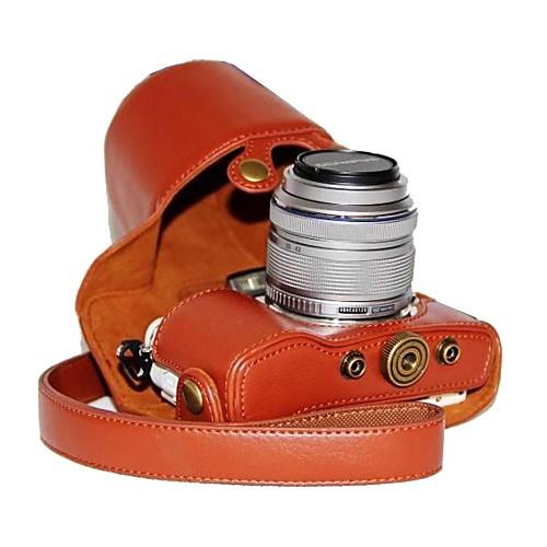 dengpin искусственная кожа личи случай модели камеры для Olympus PEN E-PL7 с 17мм / 14-42мм объективом футболка однотонная с открытым плечом
