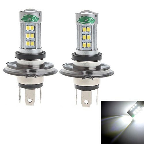 zweihnder h4 15w 1400lm 6000-6500K 27xsmd 2835 светодиодный Белый свет лампы для автомобилей противотуманные фары (12-24В, 2 шт)