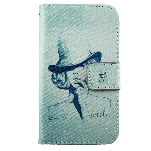 Woman Pattern PU Leather Full Body Case with Stand for Motorola MOTO G