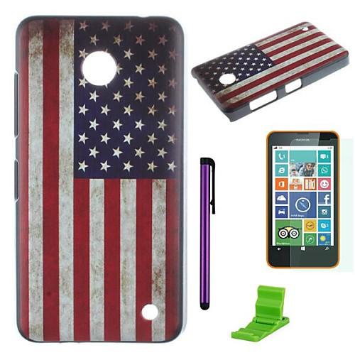 Американский флаг шаблон шт жесткий футляр с защитником экрана, пера и быть Nokia Lumia 630/635