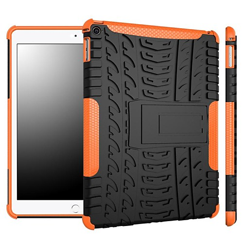 Кейс для Назначение Apple iPad Pro 10.5 / iPad (2017) Защита от удара / со стендом Кейс на заднюю панель броня ПК для iPad Air / iPad 4/3/2 / iPad Mini 3/2/1 гибкий кабель для мобильных телефонов for apple 20pcs lot usb flex ipad 2 ipad 6 dhl ems air 2